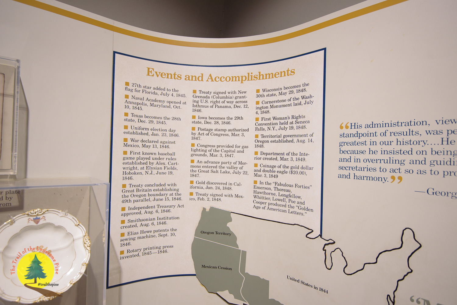 As shown, James K. Polk had many accomplishments