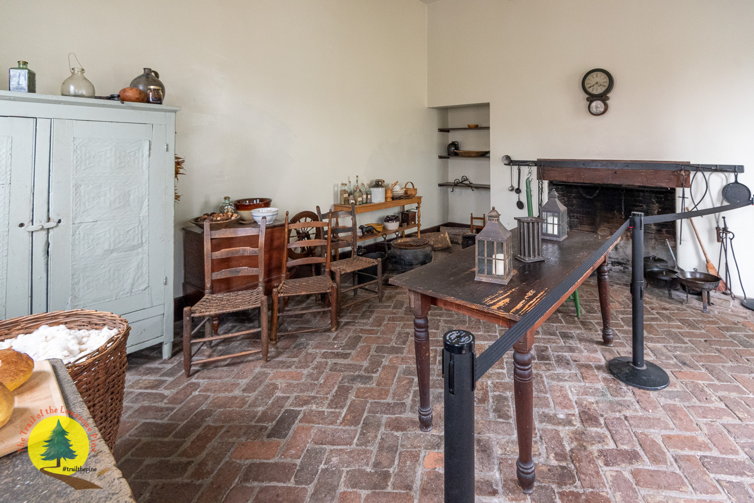 Interior of the kitchen with furnishings of the time