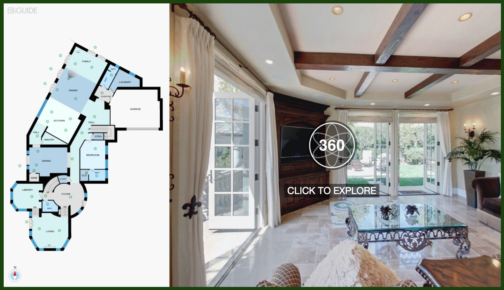 iGuide 360 - iGuide is an immersive property experience that offers users an incredible understanding and perception of the space.Created using our exclusive iGuide camera system and software, we elegantly weave the data into floor plans, 360 degree virtual views, photos, room dimensions and property areas.