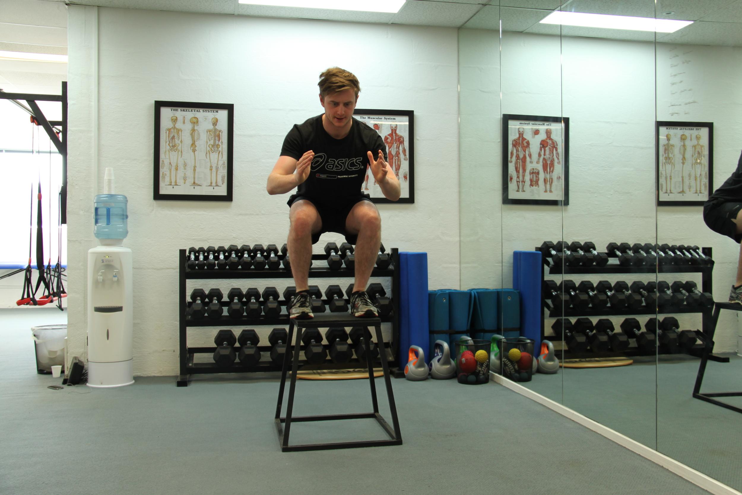 Box Jump with a Twist