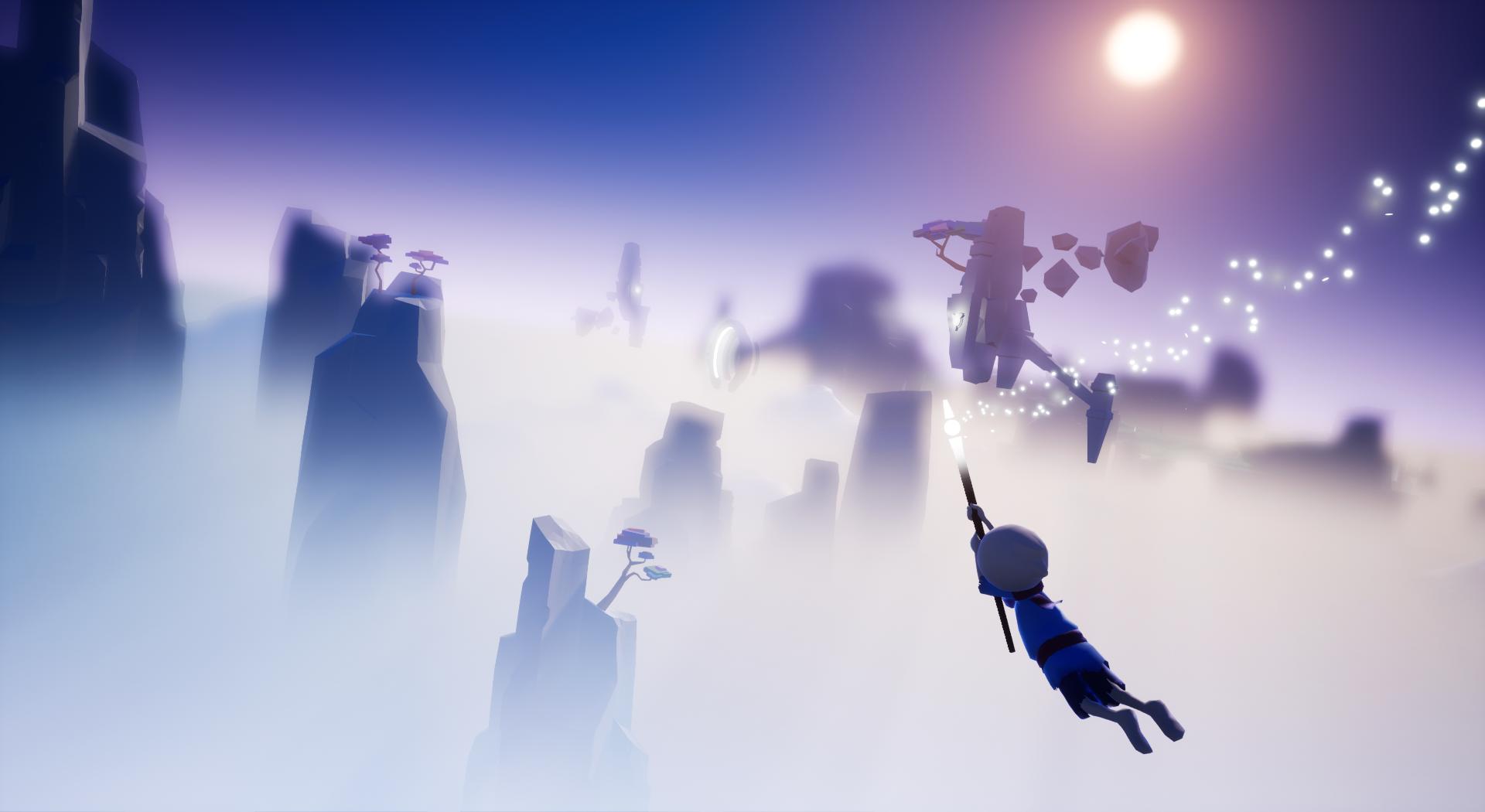 Screenshot, gliding in the air