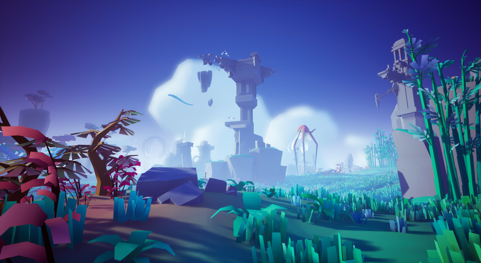 Omno review: screenshot, the game world