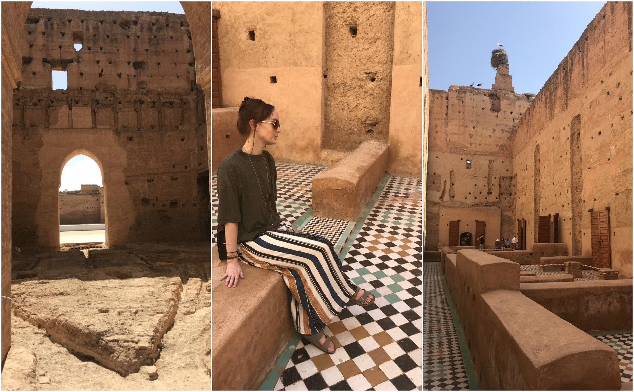 Palais El Badiî, Marrakesh, Morocco - when my pants matched the floor