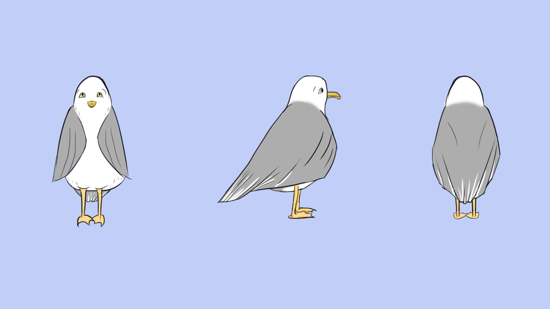 Sad seagull Turnaround