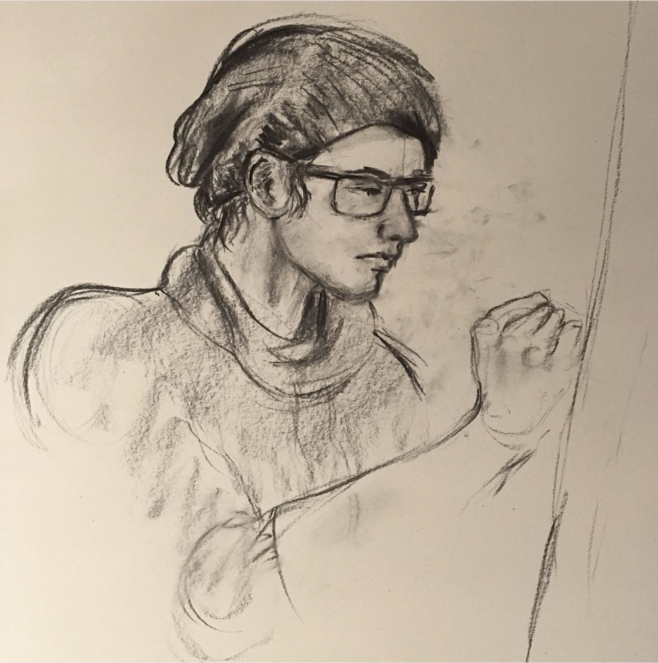 Life Drawing my Friend, did of me During class!