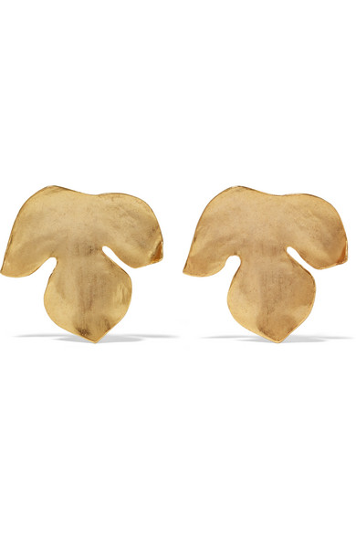Oscar De La Renta Clip Earrings