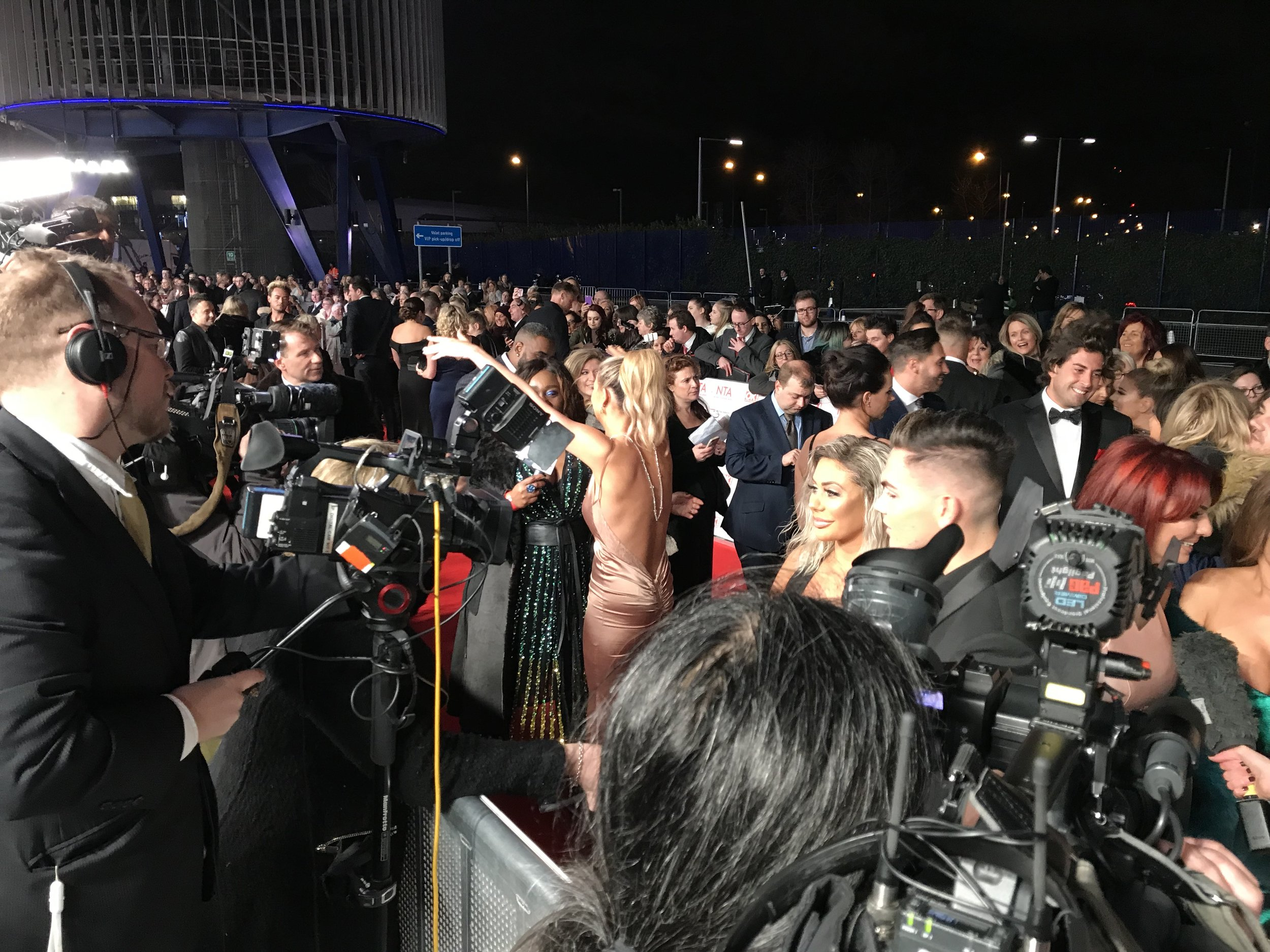 A Media scrum in full flow