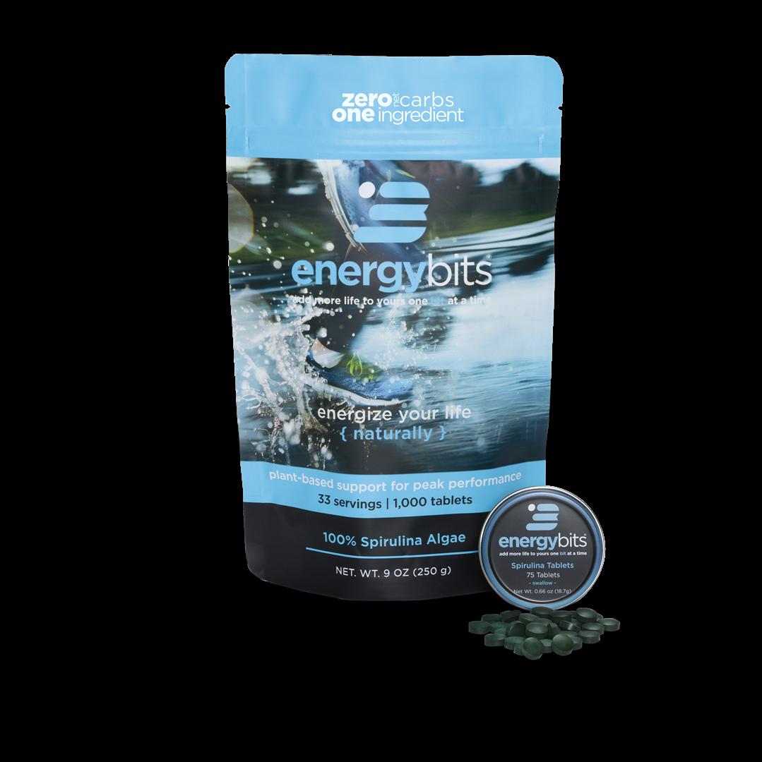 ENERGYbits - NON GMO Spirulina Tablets   Discount code: KT (20% off)