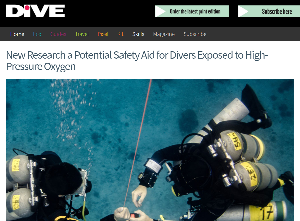 Read about our study in the world`s largest DIVE Magazine! -
