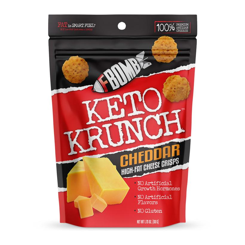 "FBomb Keto Krunch  - Cheese Snacks  Use code ""DOM"" for 10% off"