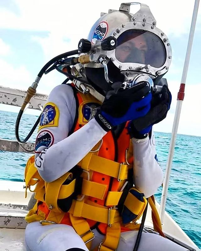 Yesterday, Dr. Csilla Ari D'Agostino splashed down with three other NASA NEEMO 23 crew members to spend 9 days in saturation in NASA's underwater habitat. This is a space analog mission.  The research involves studying the impact of extreme environmental conditions on humans and how this can apply to future space exploration! Our lab is studying the effects on psychology, metabolism, sleep, body composition, and microbiome. Dom D'Agostino was a crew member on the last NEEMO mission, and this year he will be a support diver. Follow along over the next 8 days with the link in bio!