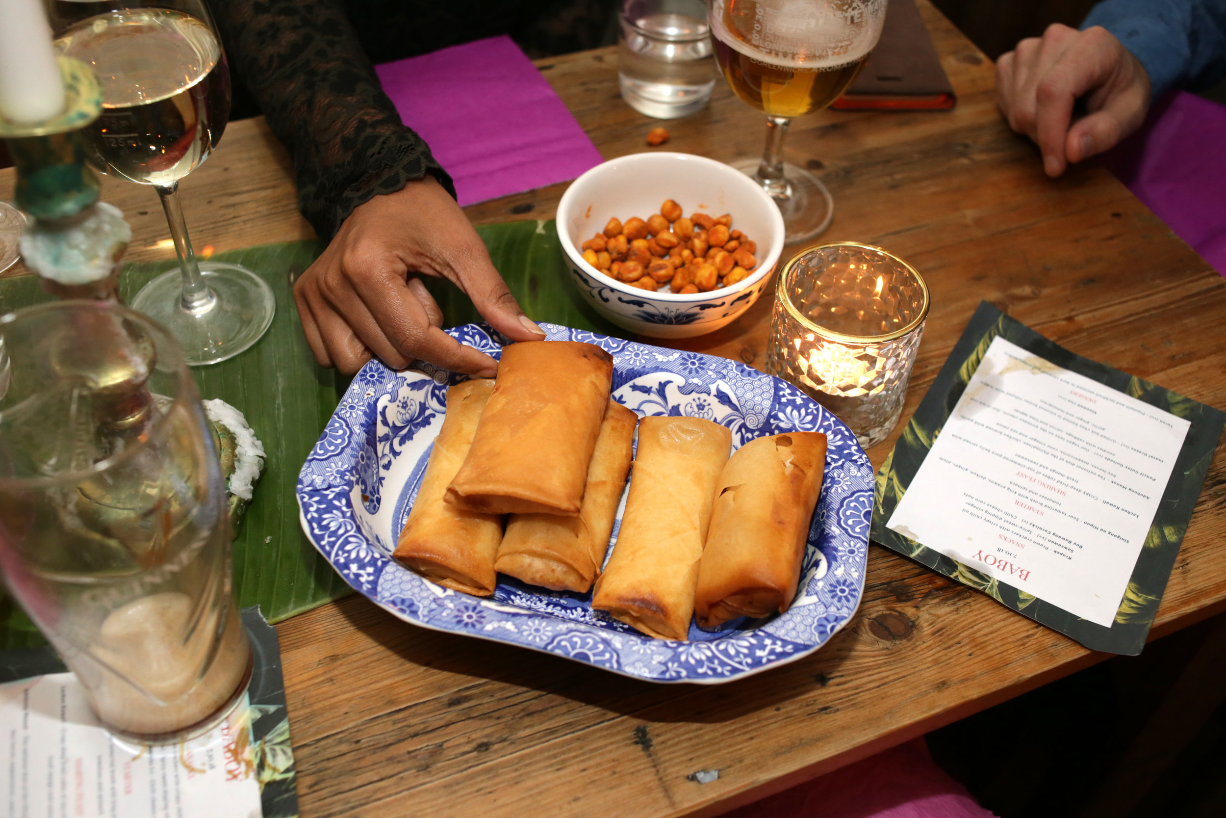 Turon - plantain and jackfruit spring roll