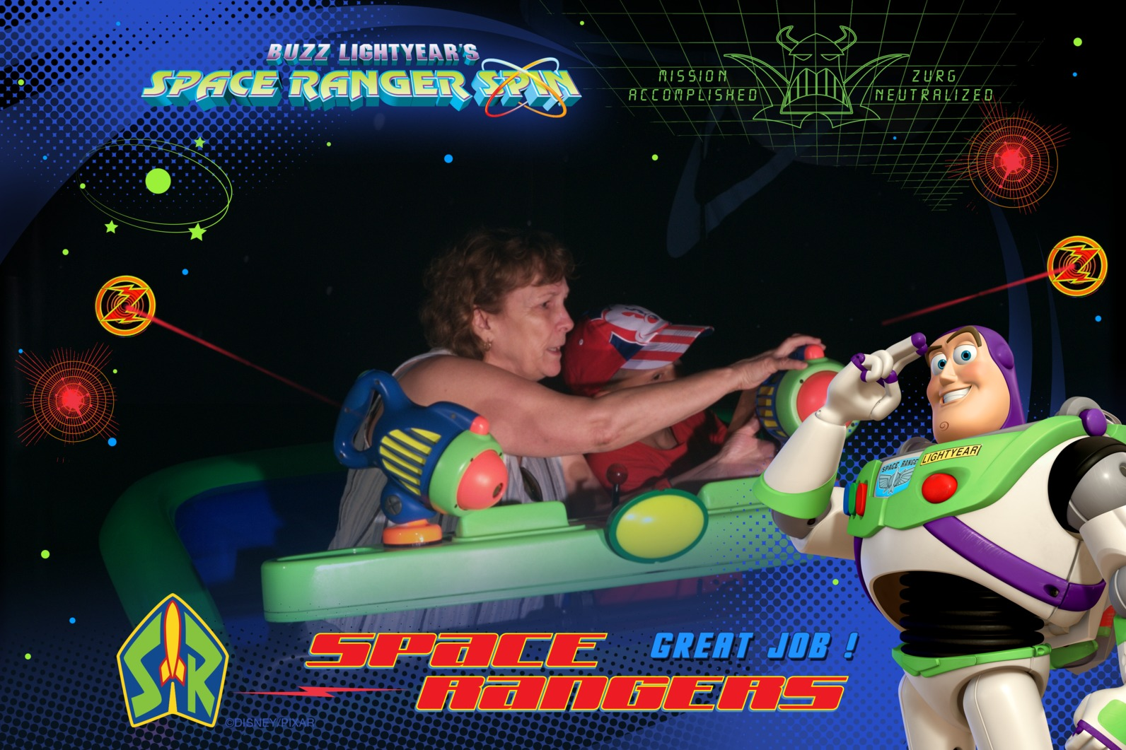 Three things I learned-Don't ride Buzz Lightyear with mom