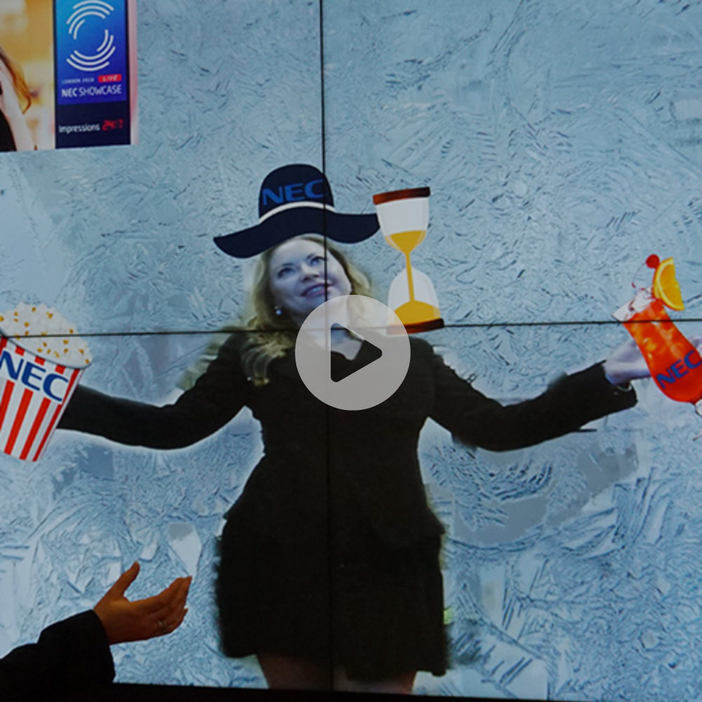 Attach Body Accessories Module(Augmented Reality Mode) - Have you tried to imagine yourself with a new amazing fashion hat or a scarf? You dont need to imagine that, the body accessories module makes it all possible. In an augmented reality mode, you can attach to the passersby any branded object you would like to promote
