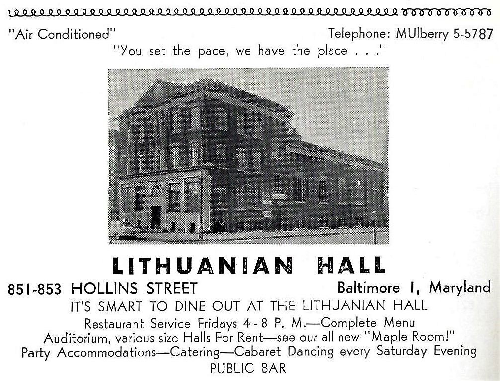 Advertisement from 1956