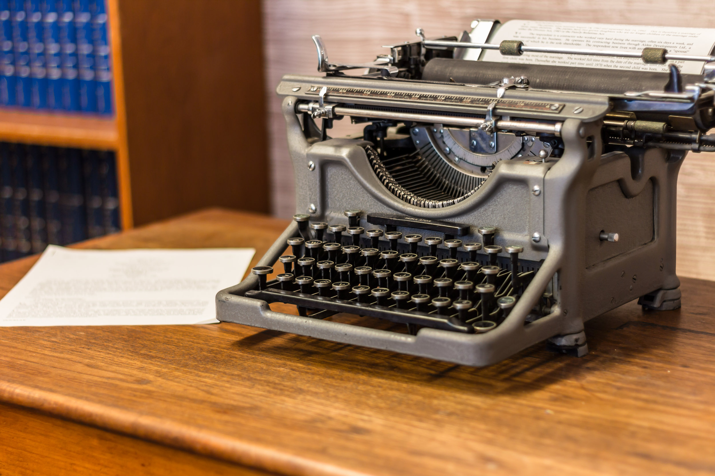 A Typewriter in our Reception Area