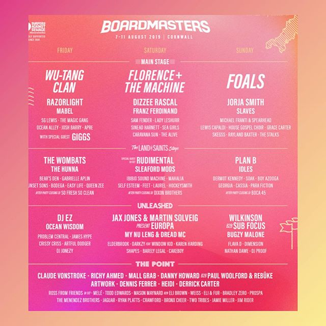 one of our most favourite line-ups of the summer 💞🤙💛🌟💃🏼 ...looking for 3 or more helpers on the stall 👋 get in touch! #boardmasters #florenceandthemachine #summer #festivalwork #festivalstyle #festival 💖💖💖💙💙💙
