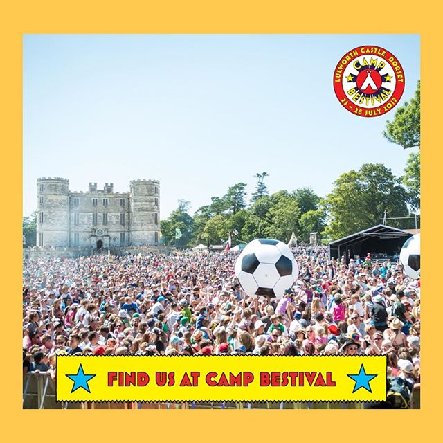 We will also be at our home from home, brought by the wonderful @bestival team.. @campbestival ⛺️🚀🎷🏆🍻🌈🌼💫 same spot as last year in the castle field.. 🌻🌻