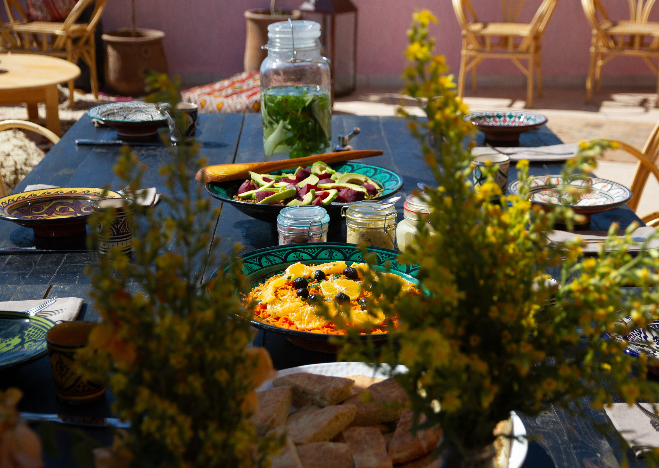 Fresh and wild cuisine served on the terrace at Tamazirt by Amayour.jpg