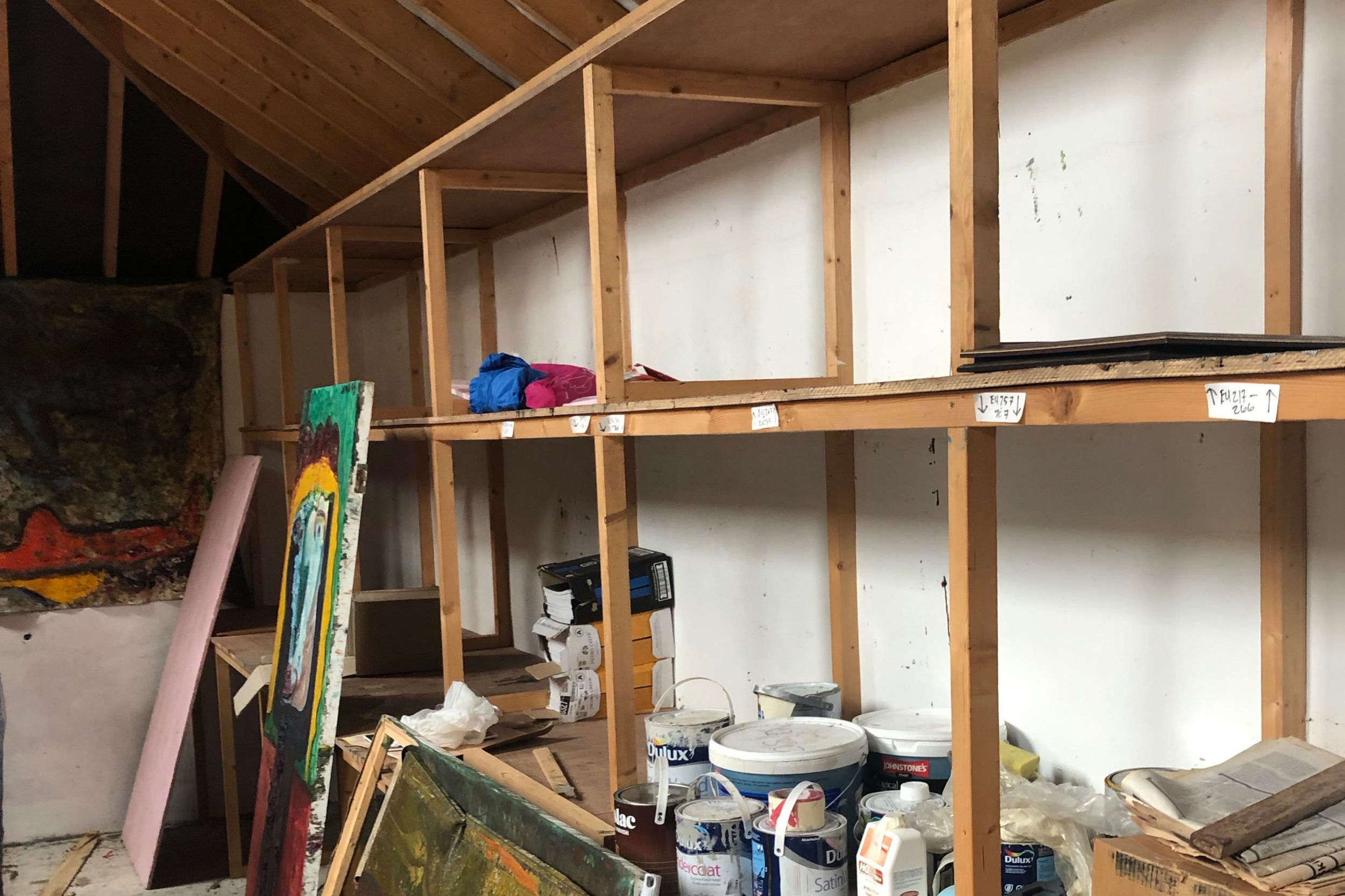 Storage Unit After Theft, Photo by Sheila Lamb-Gabler