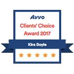 Kira Doyle Law - Client's Choice Award Avvo