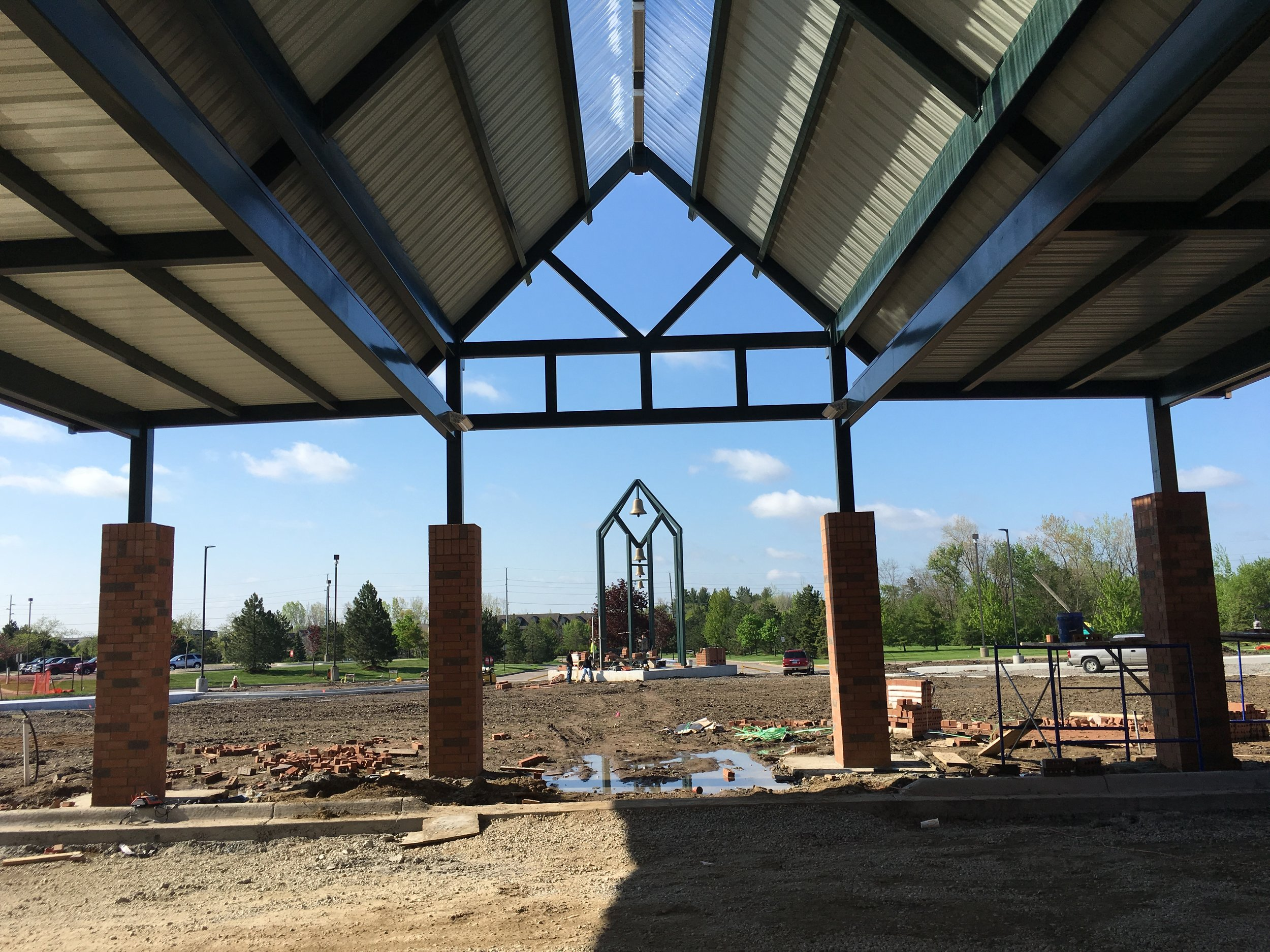 Ward Church New Main Entry Canopy and Bell Tower.JPG