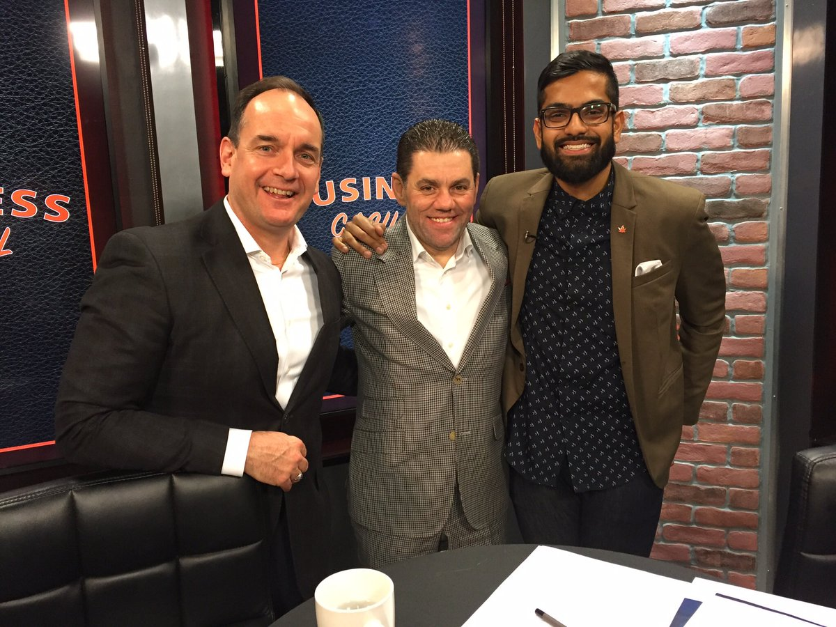 Nav with Brampton Board of Trade CEO Todd Letts and Paramount Fine Foods Owner Mohamad Fakih