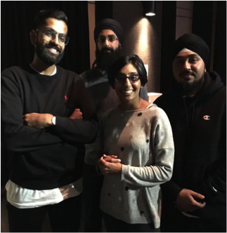 (From Left to Right) Nav Nanwa, Rapper Noyz, The Bramptonist's Radha Tailor and Producer/Photographer Dusty Loops at LOFI Glory Photography/Music Exhibit (September 2017)