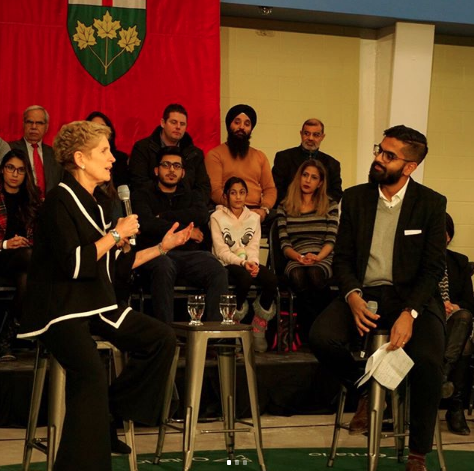 Nav with Former Premier of Ontario Kathleen Wynne