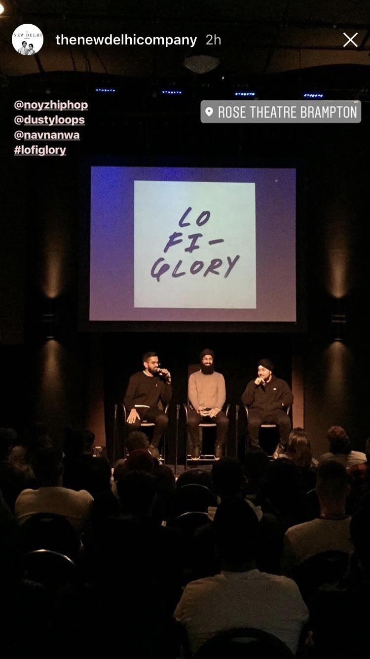 Instagram story post from LOFI Glory photography/music exhibit courtesy of the @newdelhicompany  (September 2017)