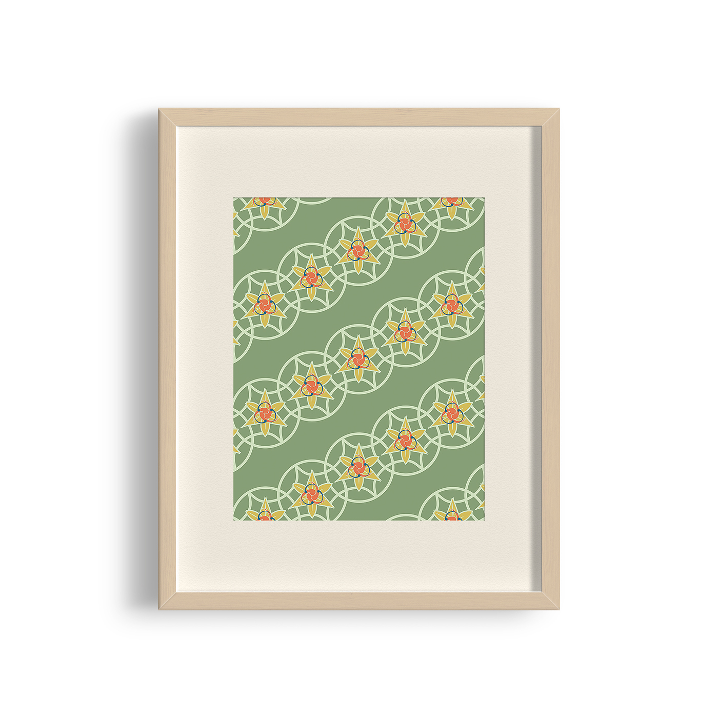 """Norwagian Words"" Pattern Poster, Print"