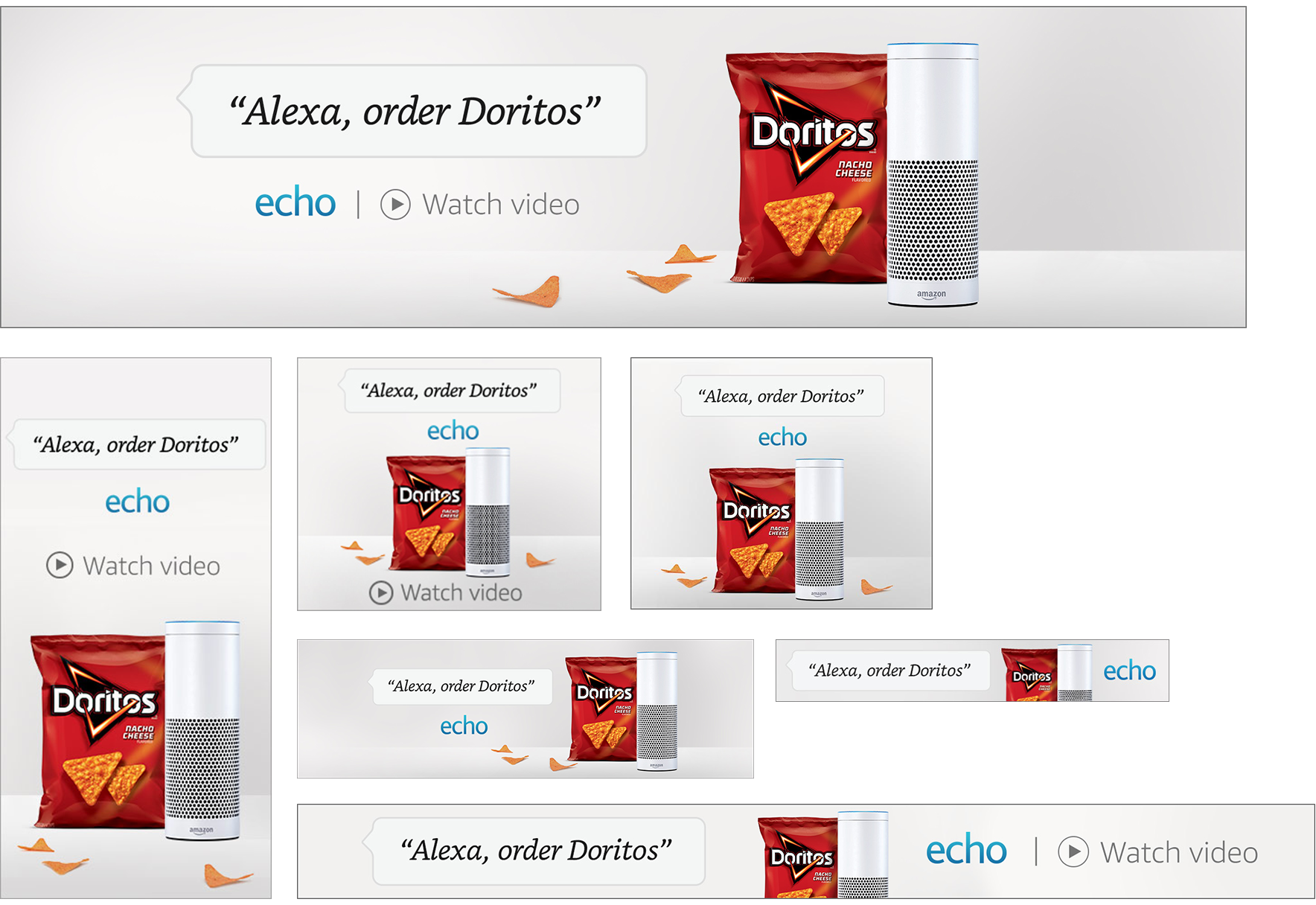 Media banners on Amazon Advertising Platform, Digital, Dimensions Veriable