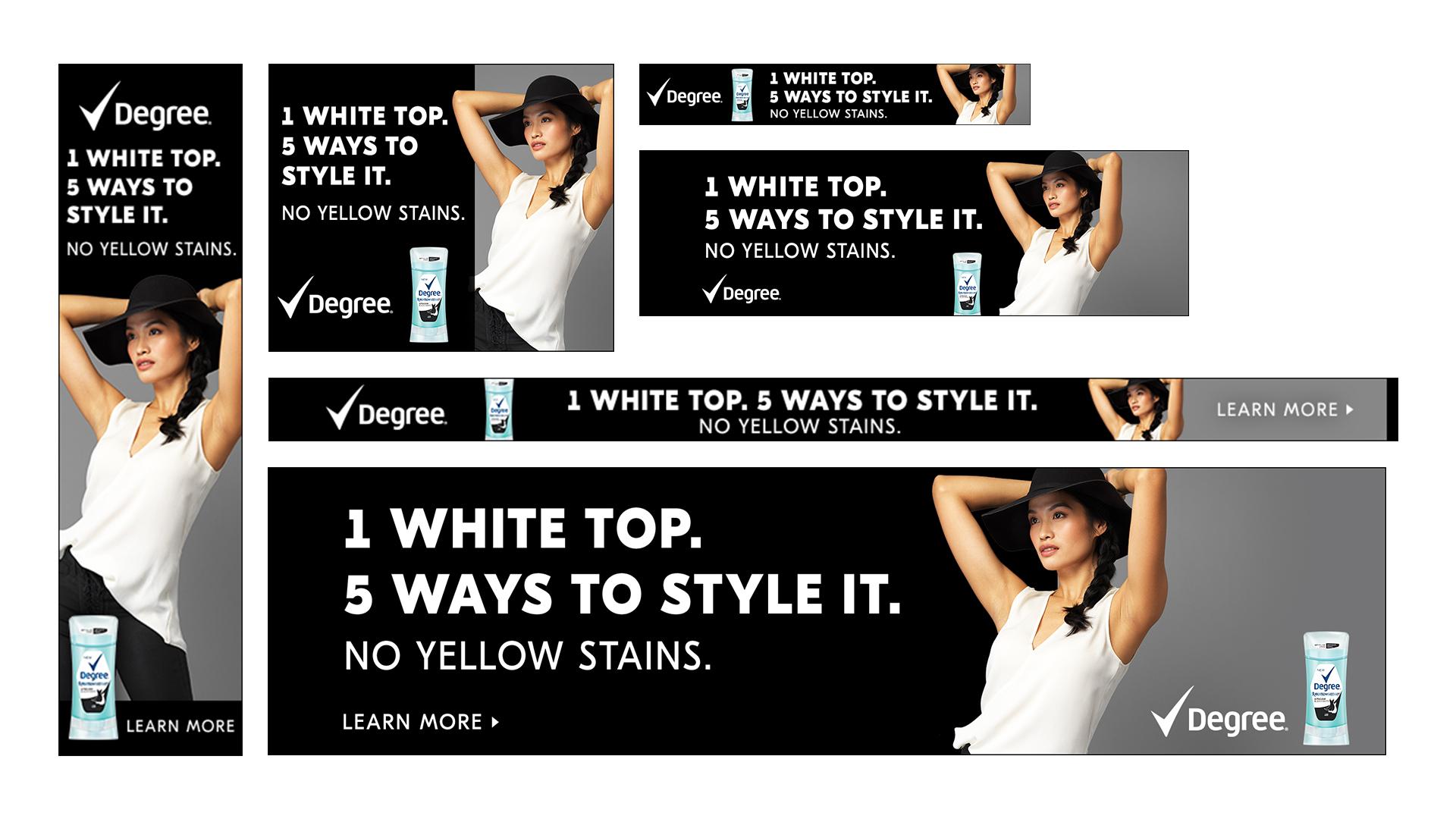 Media banners on Amazon Advertising Platform, Digital, White Top Version