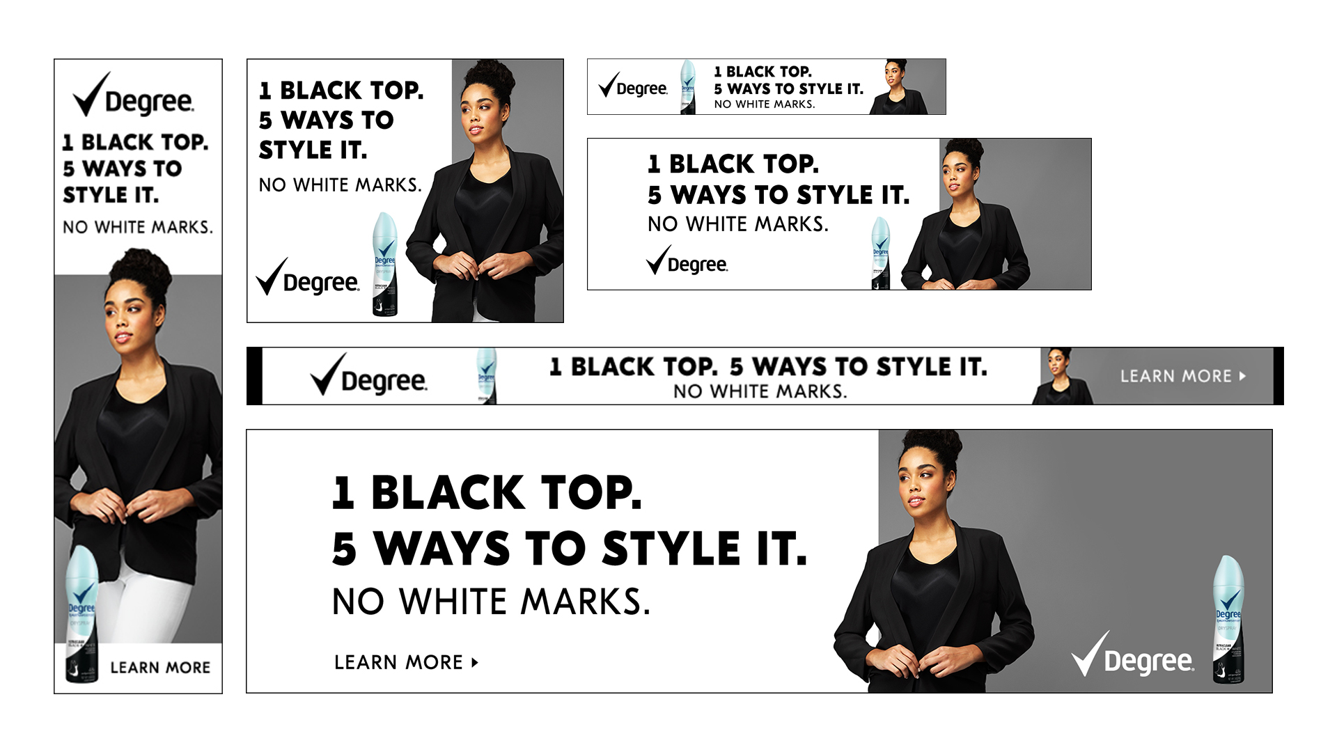 Media banners on Amazon Advertising Platform, Digital, Black Top Version