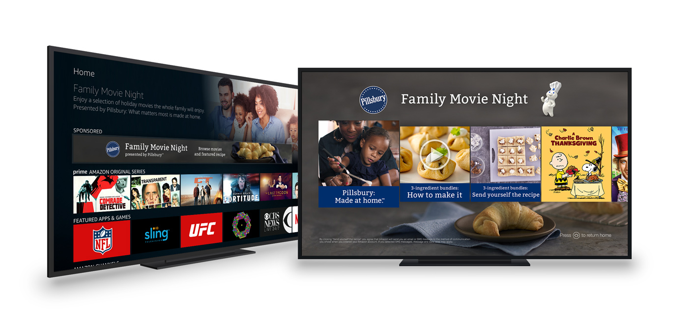 """Pillsbury Family Movie Night"" Fire TV Landing Page"