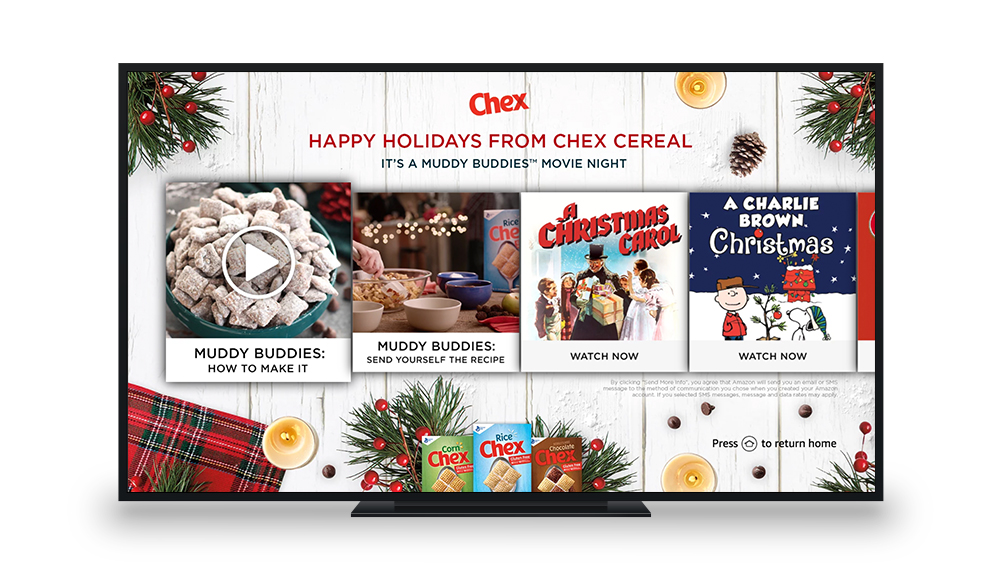 "Chex ""Muddy Buddies Movie Night"" Fire TV Landing Page"