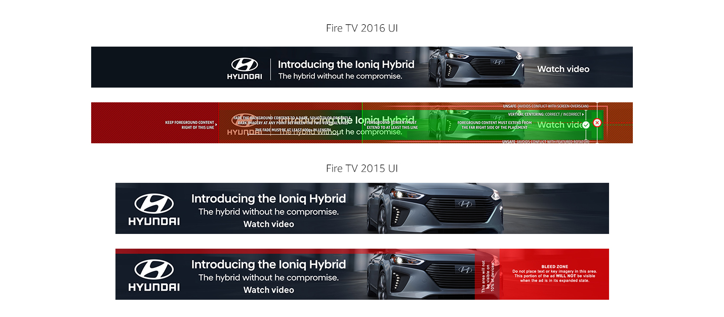 Hyundai Ioniq Hybrid Fire TV Home Screen banner