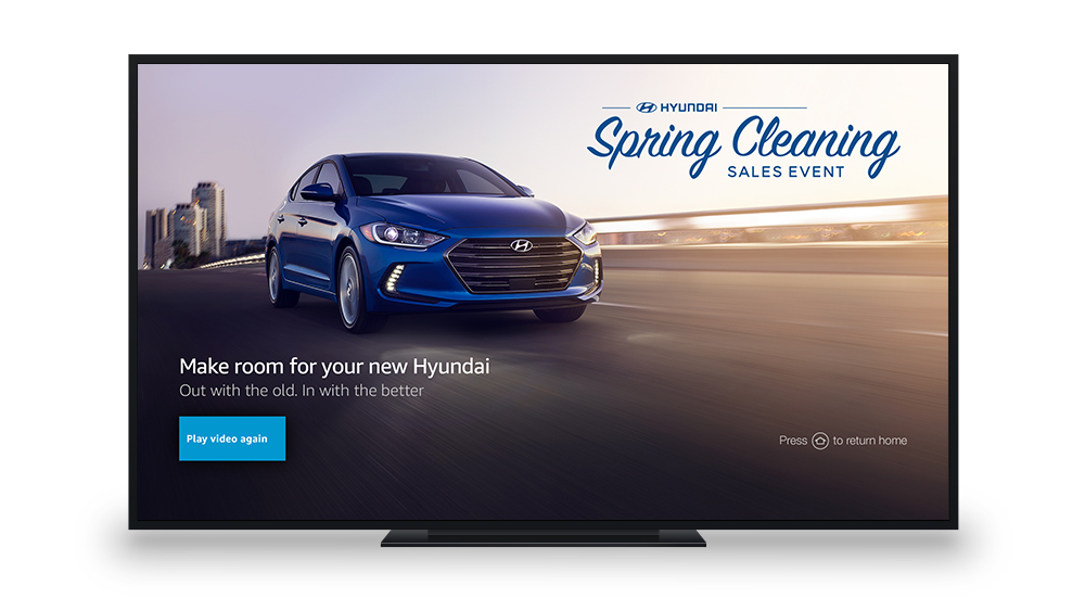 Hyundai Spring Cleaning 2017 Sales Event Fire TV Promotion