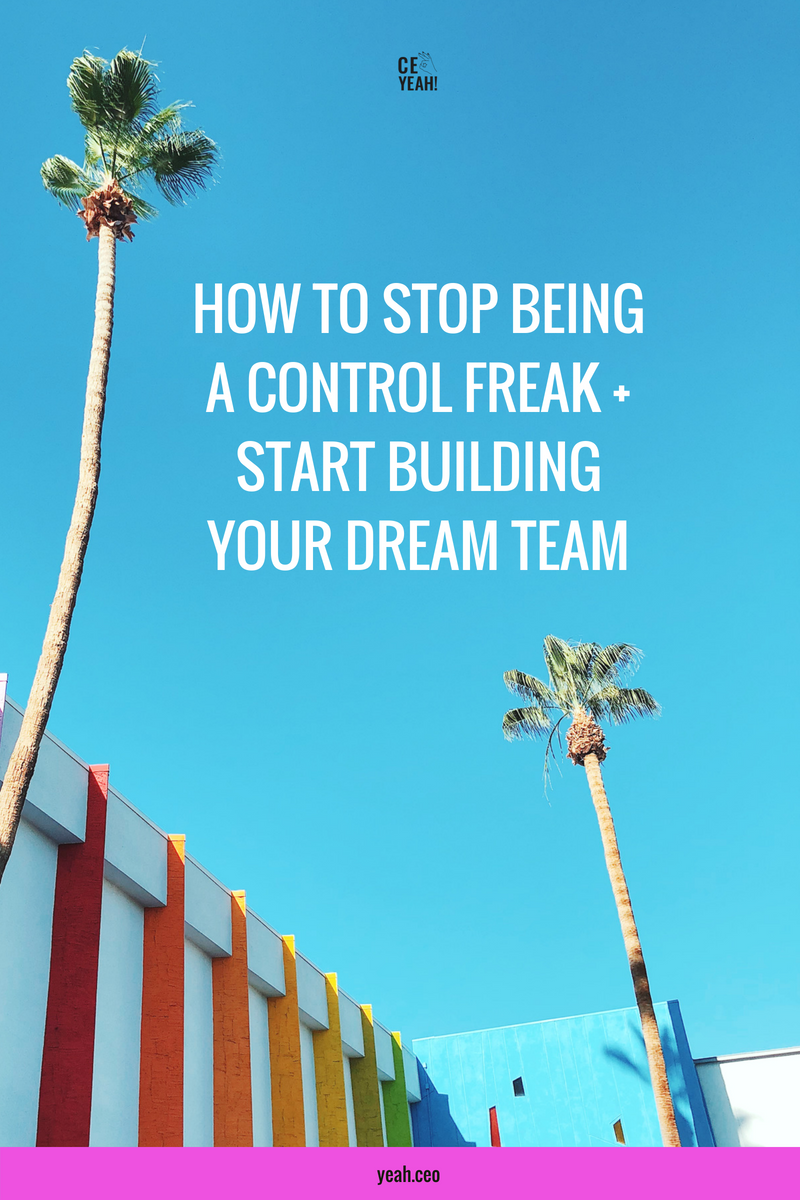 How to stop being a control freak + start building your dream team. Tired of trying to do it all yourself? You need to outsource! Here's how to become a CEO + start delegating some of that busy work...