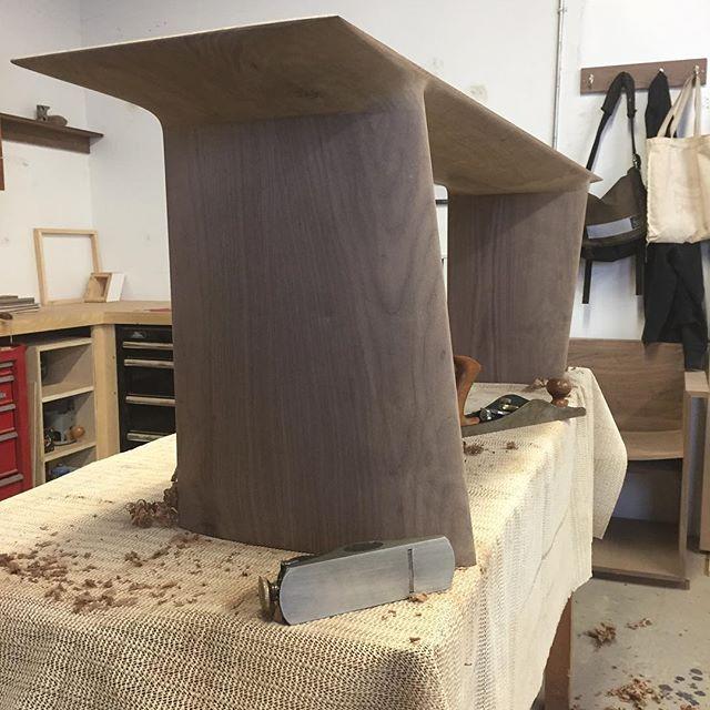 #wip #homestretch . . #bench #custom #customdesign #curves #customfurniture #design #handmade #interiordesign #shape #walnut