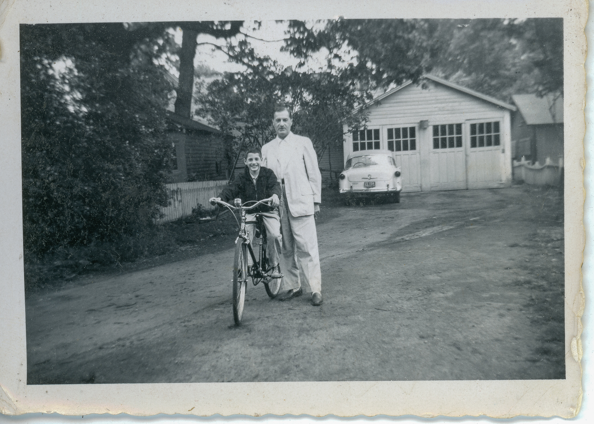 Dad and me, 1956
