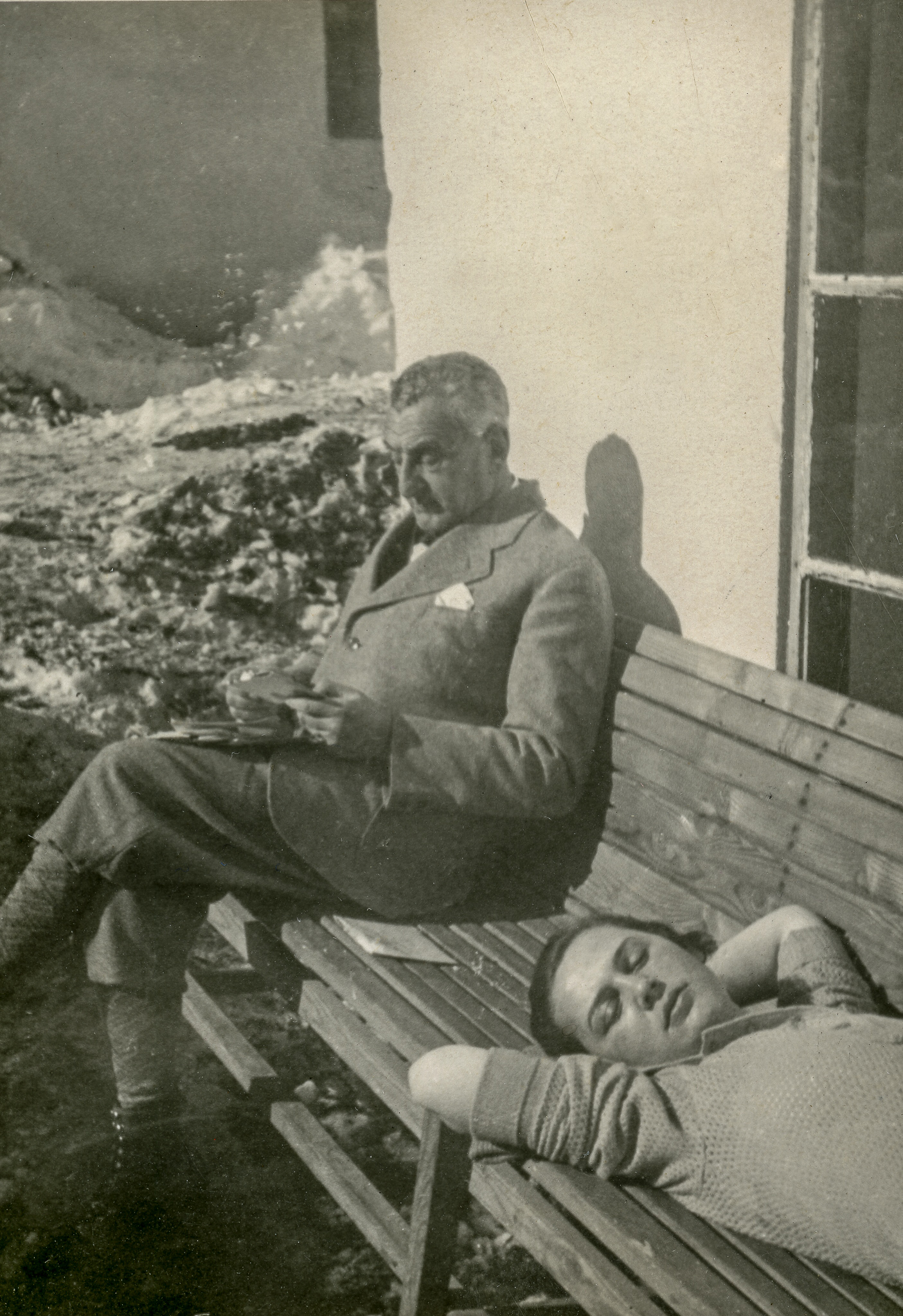 My grandfather Otto and my father's girlfriend, Lotte Roderer, at an Italian ski resort, ca 1935.