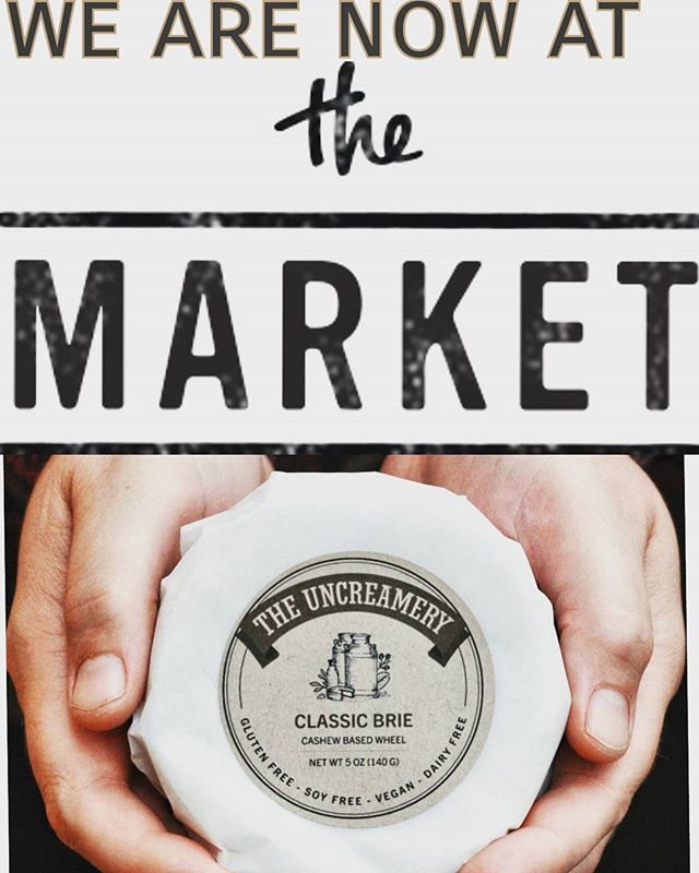 You can now find your Uncreamery favorites: Classic Brie, Dill Havarti and Ghost Pepper Jack at @visitthemarket right on 1355 Market st. P.S. it is in the fancy cheese section❤❤❤❤ Yay!!! . . . #sflocal #sffoodie #sanfrancisco #localgrocery #vegancheese #veganbrie #localveganfood #womanowned #thefutureofdairyisnuts #theuncreamery #shoplocal #sf #vegansofig #whatveganseat #cheese #brie #artisan #handmade #smallbusiness @lacocinasf