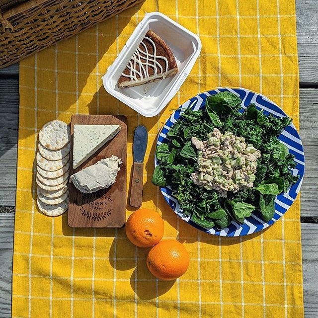 Dill-licious Dill Havarti in such great company!  Reposted from @prairieveganpies -  Perfect day for a picnic!☀️🧺So perfect I thought I was dreaming. 🥗I'm sure you want to know what's here: @goodcatchfoods vegan tuna made into a kale & spinach tuna salad, @theuncreamery dill havarti, @sperofoods goaty chèvre all acquired from @mylkguys (if you want $10 off yr first order message me). Cinnamon bun cheesecake from @veganeast.🤤All delicious, but I'm really looking forward to picnics filled with Minnesota veggies from the farmer's market. . . . #veganpicnic  #veganism #vegancheese #veganseafood #vegancheeseboard #whatveganseat #vegansofig #vegansofinstagram #cheese #dairyfree #glutenfree #glutenfreevegan #soyfree #vegancreamery #sfvegan #sflocal #thefutureofdairyisnuts #theuncreamery