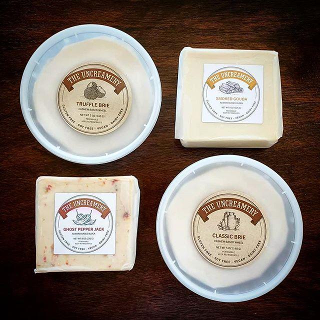 Now! Find us at Green Taste vegan grocery store at 775 Filbert St., San Francisco! @greentasteorg -  Say hi to the amazing #vegan #brie #trufflebrie #pepperjack #smokedgouda from @theuncreamery 😍 so so good, come and taste it with us this weekend! . . . #vegancheese #theuncreamery #greentaste #greentasteorg #greentastevegangoods - #thefutureofdairyisnuts #shoplocal #sflocal #sfvegan #bayareavegan #vegangrocerystore #vegan #veganism #whatveganseat #vegansofinstagram #trending #food #cheese #dairyfree #soyfree #glutenfree #glutenfreevegan