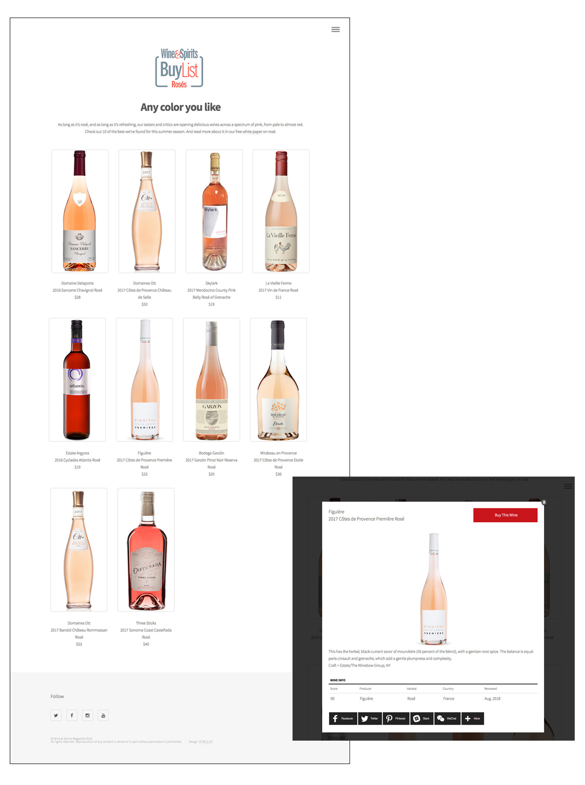 Wine & Spirits BuyList -