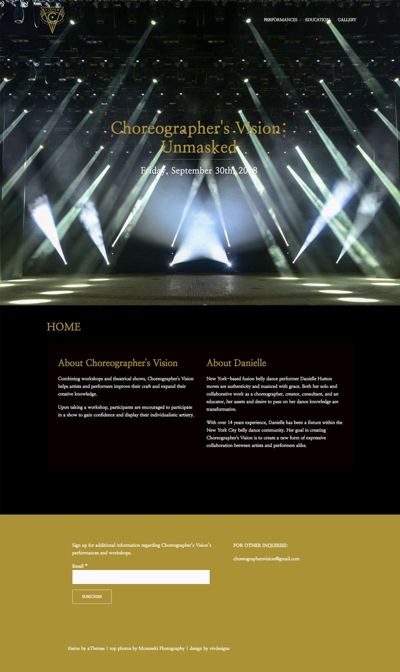 Choreographer's Vision -