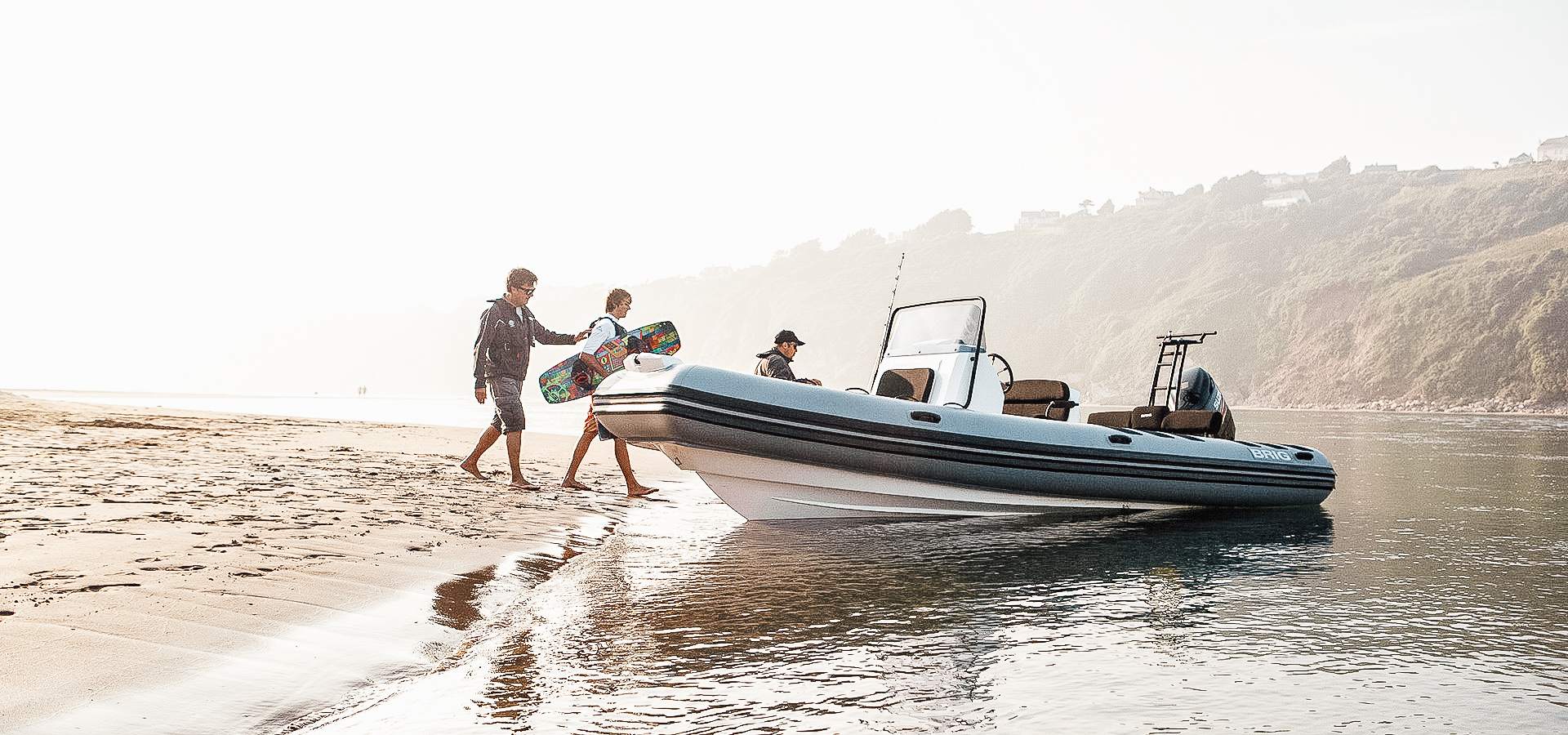 BRIG - BRIG provides a different kind of boating. Whether for family, leisure yacht, or sport–there's a BRIG model highly engineered for you. The largest rigid inflatable boat company in the world, BRIG models and styles range from 9 feet 'tenders' to 30+ feet twin engine adventure machines.