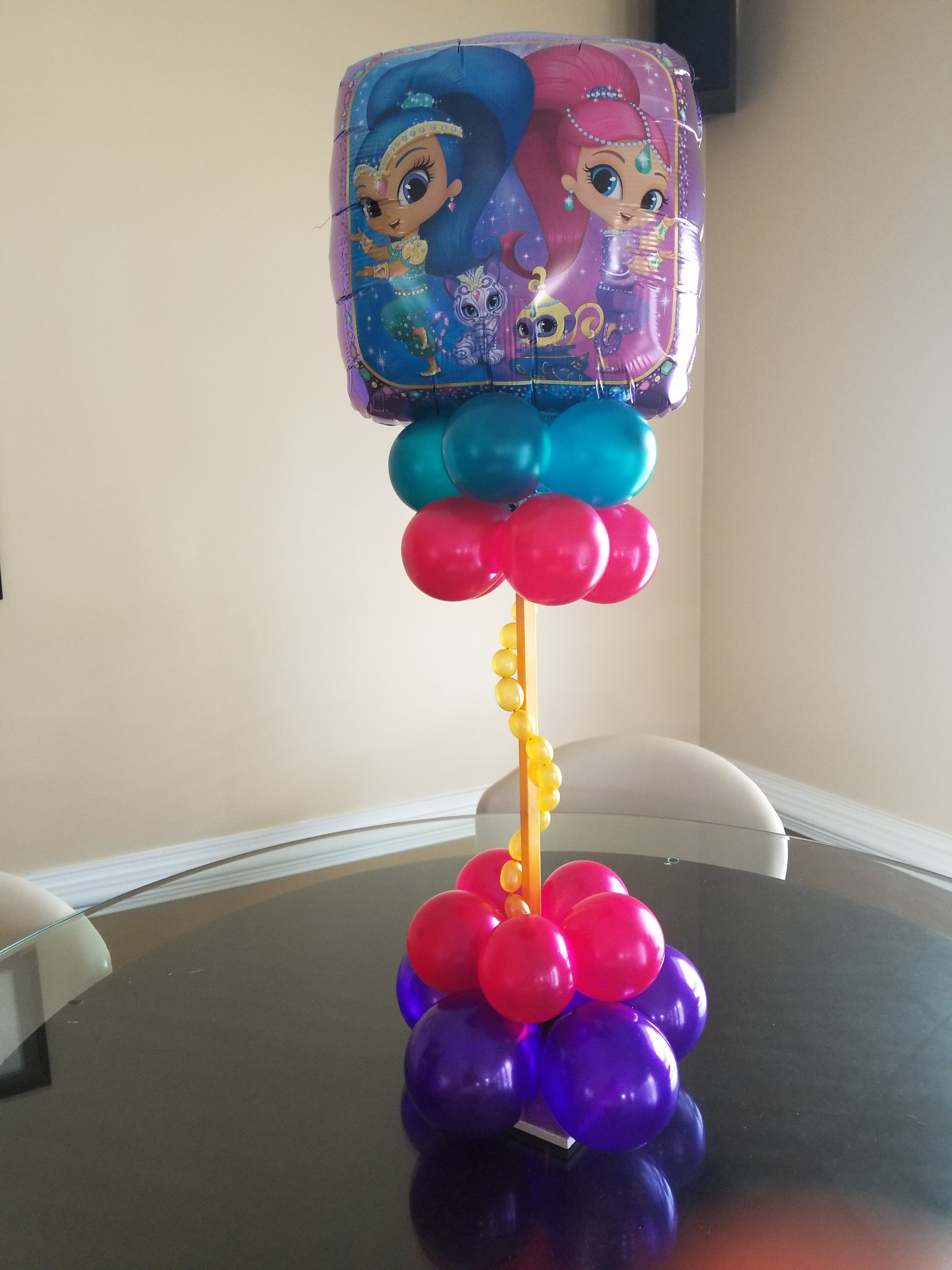 Shimmer and shine balloon centerpiece.jpg