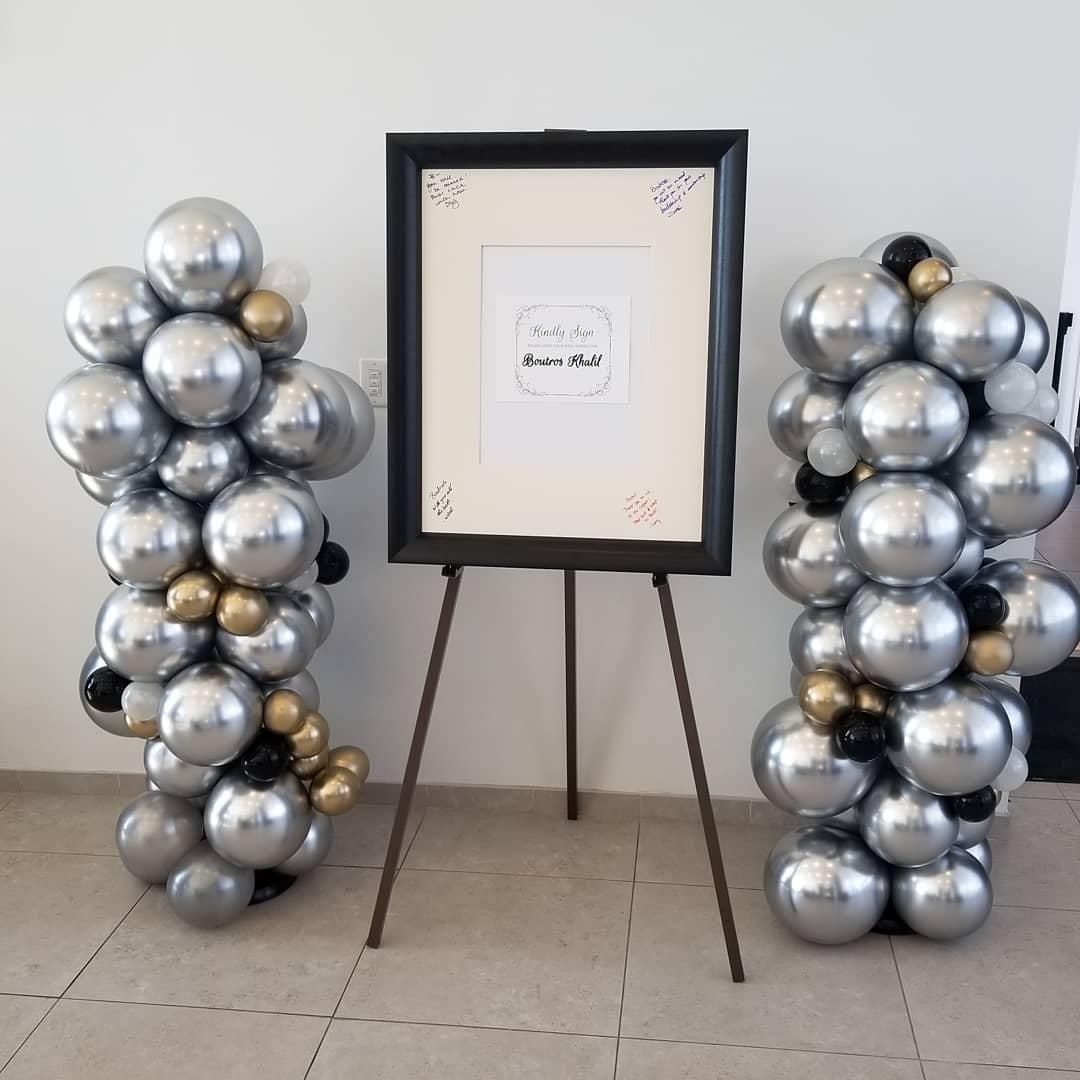 Chrome silver and gold balloon columns.jpg